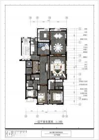 原墅2栋501-一层平面图