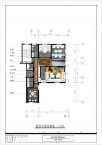 原墅2栋501-四层平面图