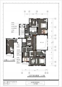 原墅2栋501-二层平面图